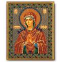 Умягчение злых сердец (Семистрельная) Богородица, набор для вышивания бисером 20х25см Радуга Бисера