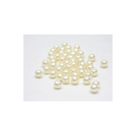 Молочный, бусины пластик 8мм 50шт, Zlatka