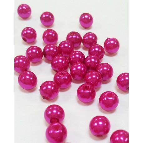 Яр.розовый, бусины пластик 8мм 50шт, Zlatka