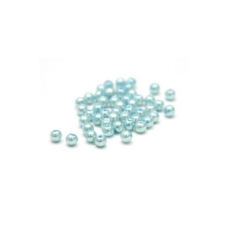 Св.голубой, бусины пластик 8мм 50шт, Zlatka