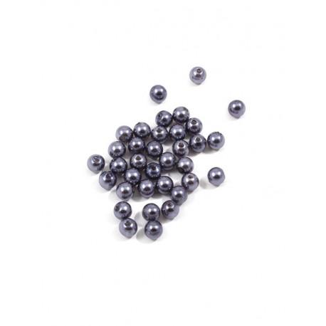 Серый, бусины пластик 8мм 50шт, Zlatka