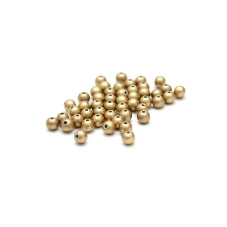 Золото, бусины пластик 8мм 50шт, Zlatka
