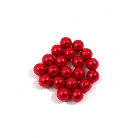 Красный, бусины пластик 12мм 25шт, Zlatka