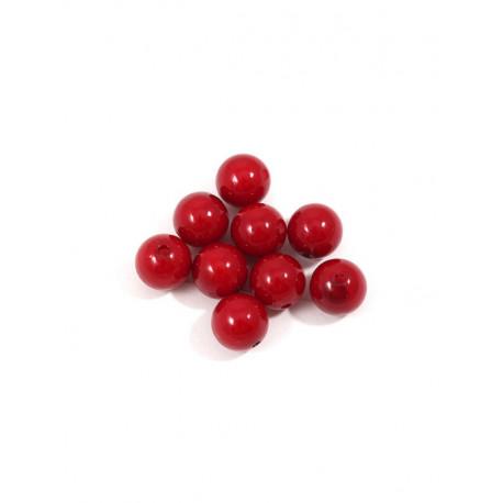 Т.красный, бусины пластик 12мм 25шт, Zlatka