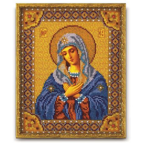 Умиление Богородица, набор для вышивания бисером 20х25см Радуга Бисера