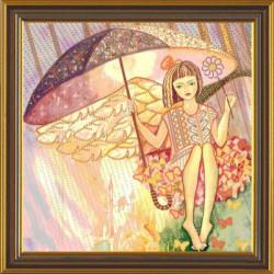 Серебряный дождь, набор для вышивания бисером, 35х35см, 8цветов НоваСлобода
