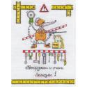 Настоящий мужчина, набор для вышивания крестиком, 19х24см, 14цветов Panna