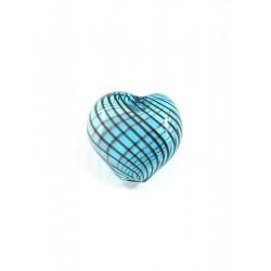Синий/коричневый, бусины стеклянные на нити 20х20мм, 6шт, Zlatka