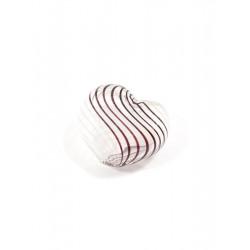 Белый/коричневый, бусины стеклянные на нити 20х20мм, 6шт, Zlatka