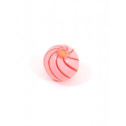 Розовый/красный, бусины стеклянные на нити 12мм, 12шт, Zlatka