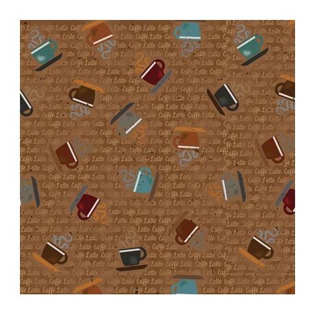 Ткань для пэчворка PEPPY CAFFE 4499, ФАСОВКА 50х55(±1см) 100% хлопок