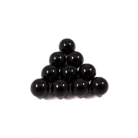 Черный, бусины пластик 18мм 10шт, Zlatka