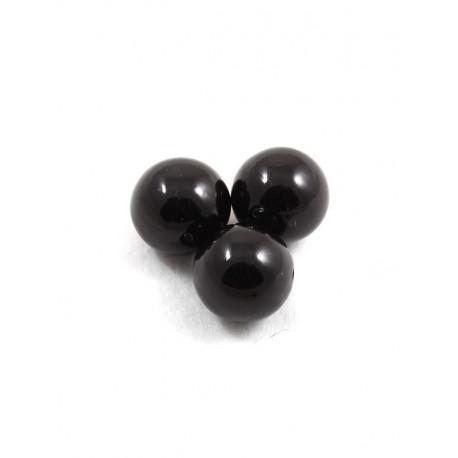 Черный, бусины пластик 20мм 10шт, Zlatka