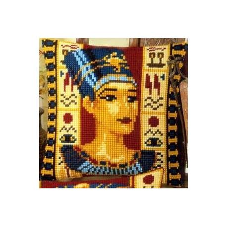 Нефертити, подушка для вышивания, канва 100% хлопок, нитки 100% акрил 40х40 см