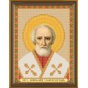 Николай Чудотворец Св., ткань с рисунком для вышивания бисером 13х17см