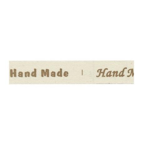 Hand Made, коричневый, тесьма декоративная 16 мм с рисунком CLP-161 3м, GAMMA