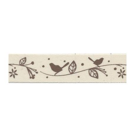 Птички, черный, тесьма декоративная 16 мм с рисунком CLP-161 3м, GAMMA