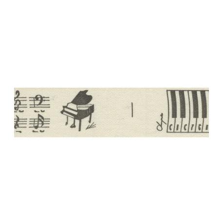 Мелодия, черный, тесьма декоративная 16 мм с рисунком CLP-161 3м, GAMMA