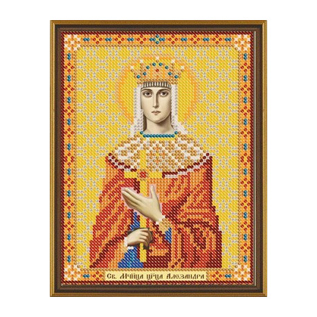 Александра Царица Св.Мч., ткань с рисунком для вышивания бисером 13х17см
